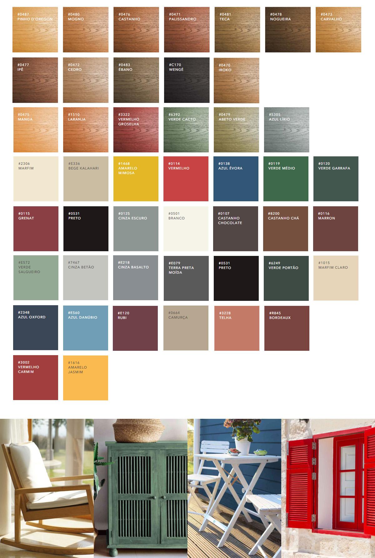 cores dos produtos Woodtec da CIN