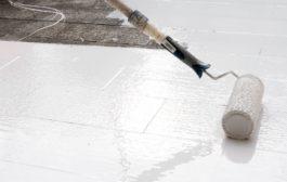 Pintura impermeabilizante de coberturas e terraços, em argamassa de cimento, tijolo, pedra e rebocos