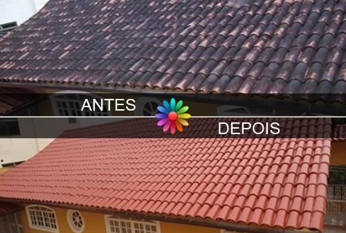 Exemplo Telhado Antes/Depois