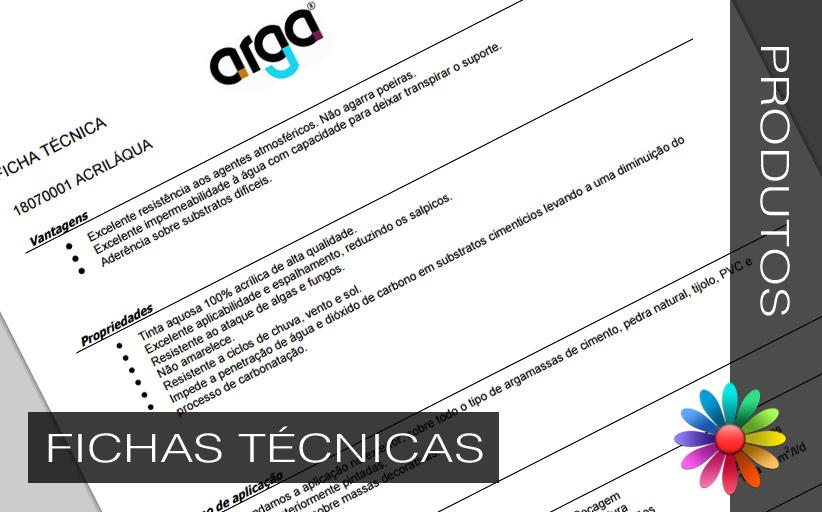 Tintas Arga - Produtos e Fichas Tecnicas